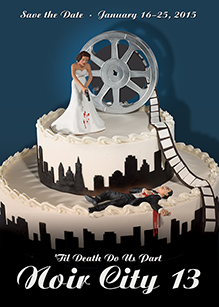 Noir City 13 Wedding Cake Poster
